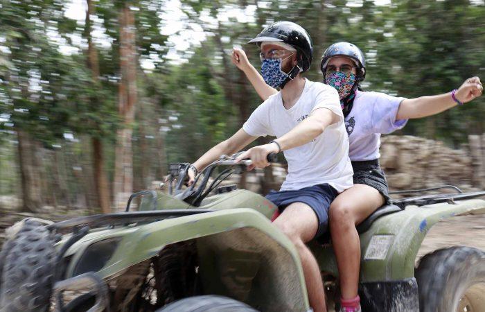 faire du quad dans la jungle à playa del carmen